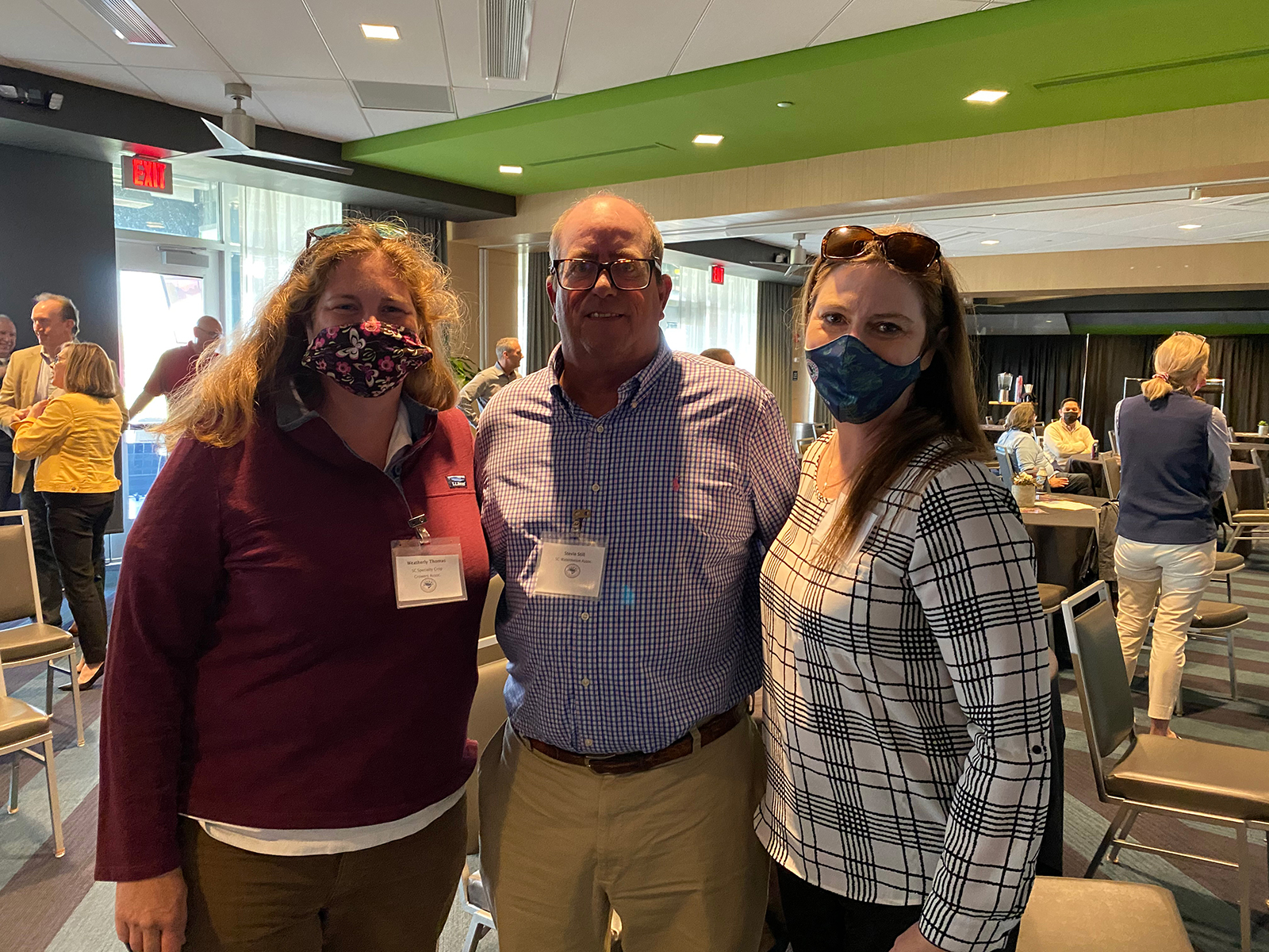 Weatherly Thomas of the South Carolina Specialty Crop Growers Association, Stevie Still of the South Carolina Watermelon Association and Michelle Cantey of the South Carolina Department of Agriculture.