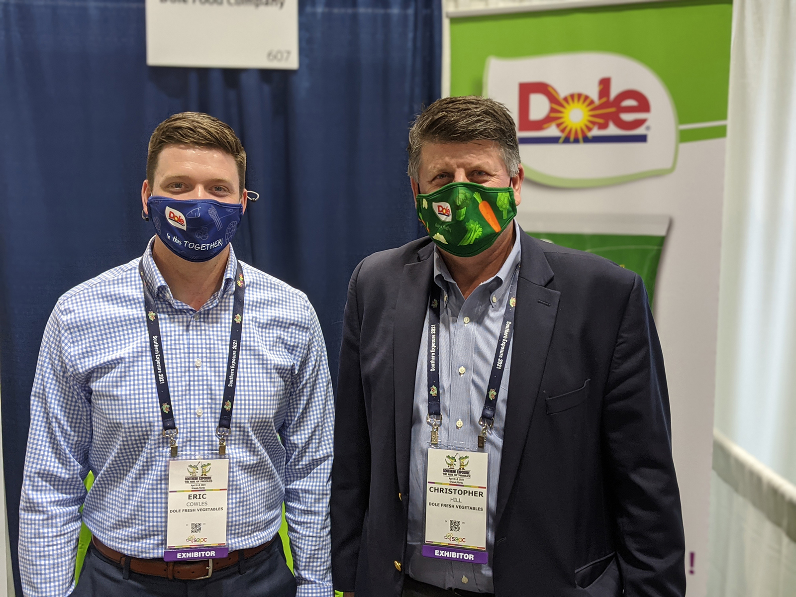Eric Cowles and Christopher Hill of Dole Fresh Vegetables.