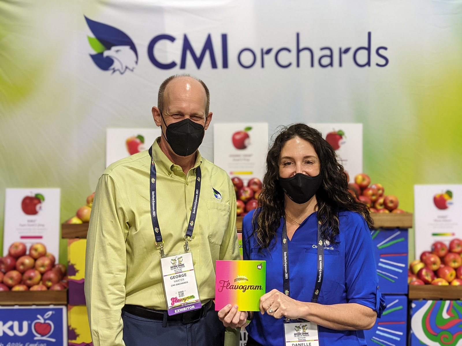 George Harter and Danelle Huber of CMI Orchards.