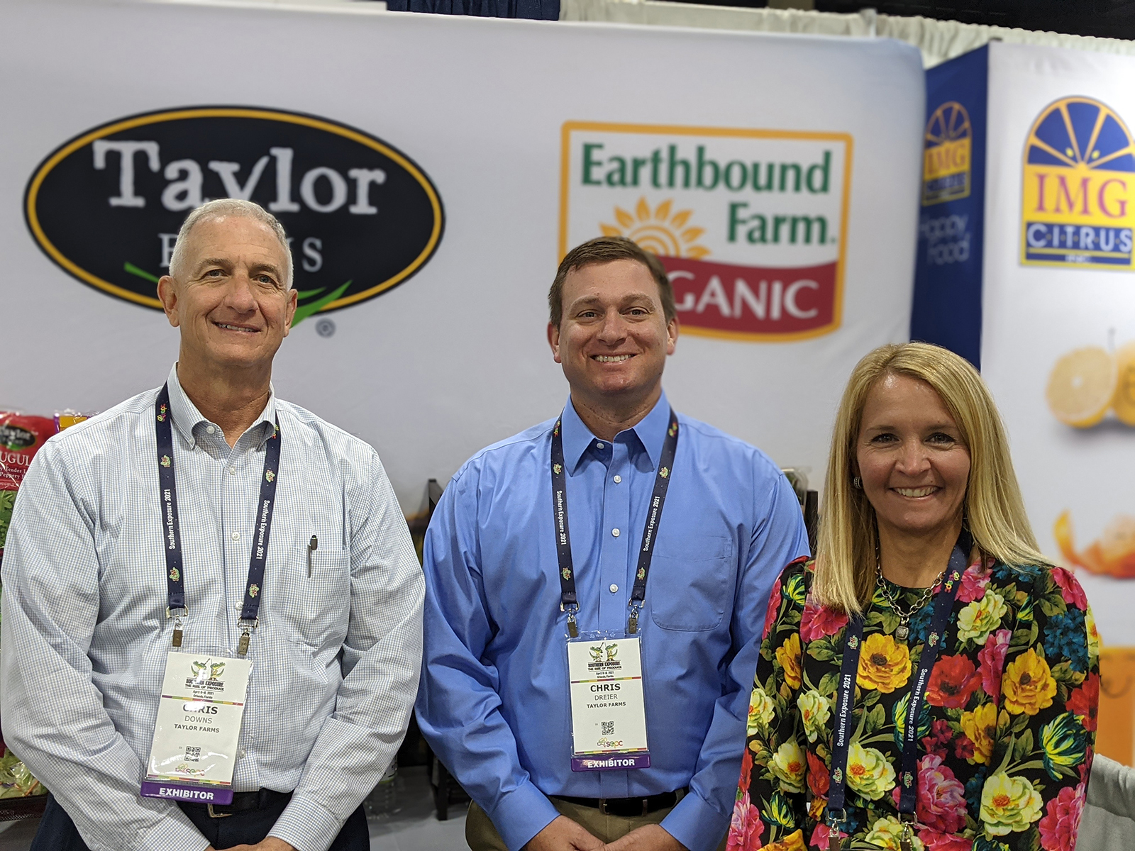Chris Downs, Chris Dreier, and MIchele Williams of Taylor Farms.