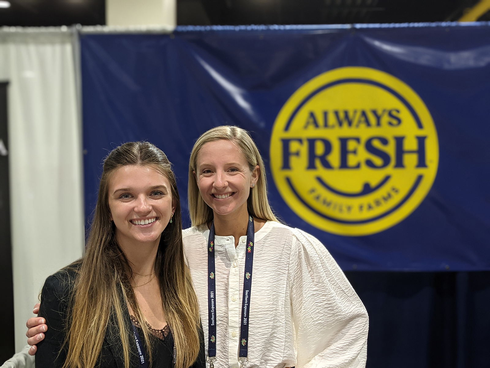Sarah Savage and Bella Giordano of Always Fresh Farms.