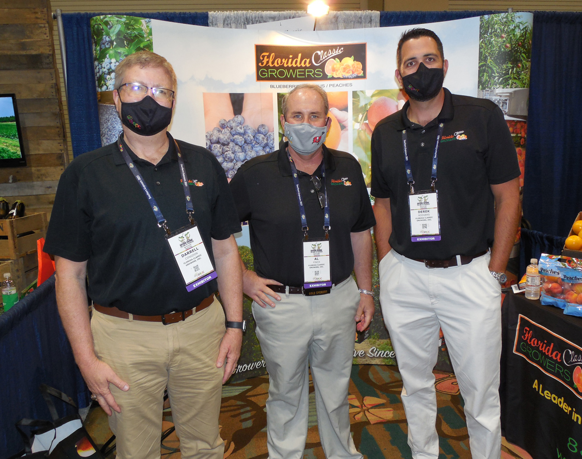 Darrell Congdon, Al Finch and Derek Rodgers of Florida Classic Growers Inc.