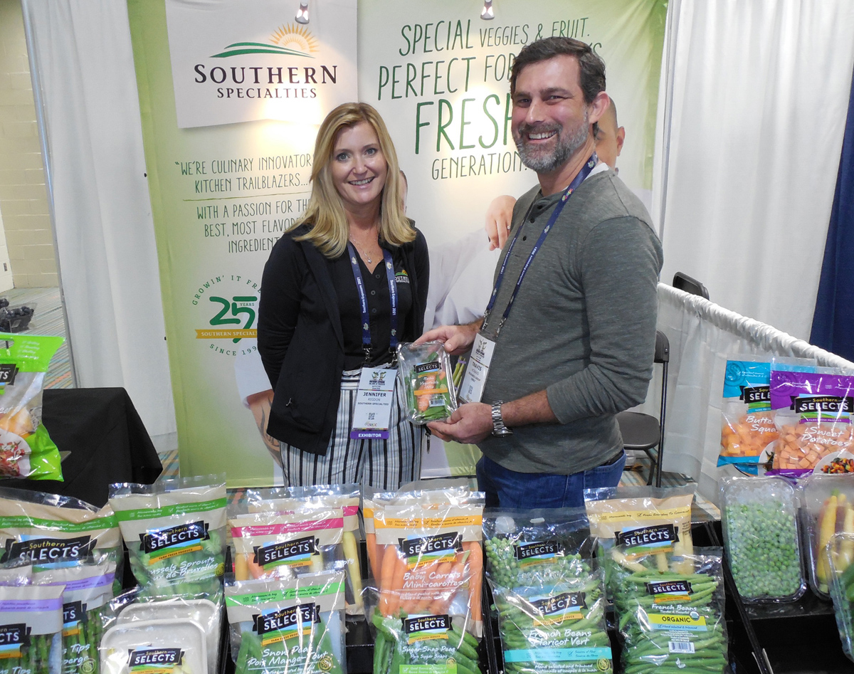 Jennifer Rigdon of Southern Specialties with Travis Howard of Resource Group Solutions.