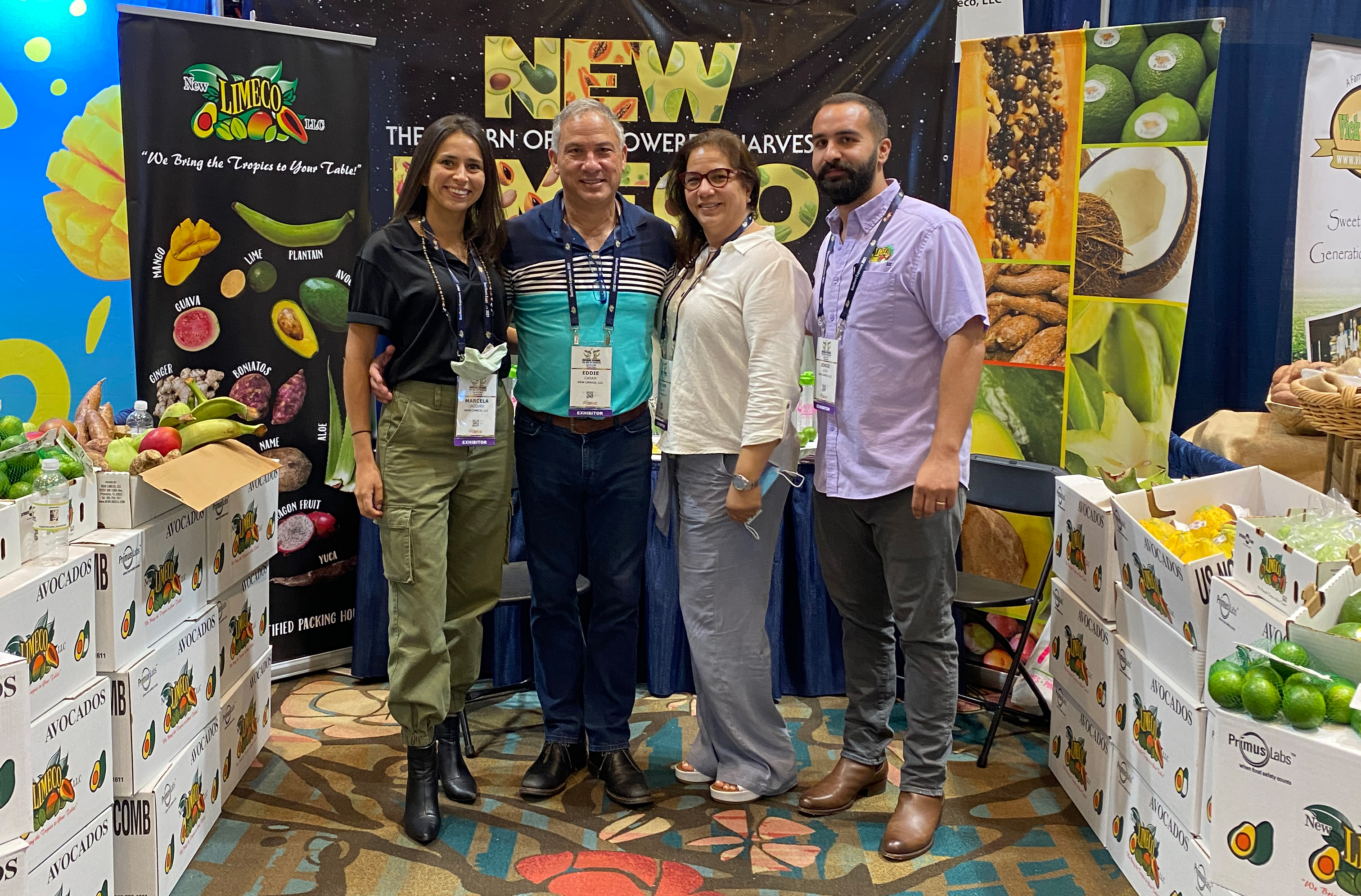 Marcela Jacques, Eddie Caram, Vivian Caram and Jorge Leon of New Limeco.