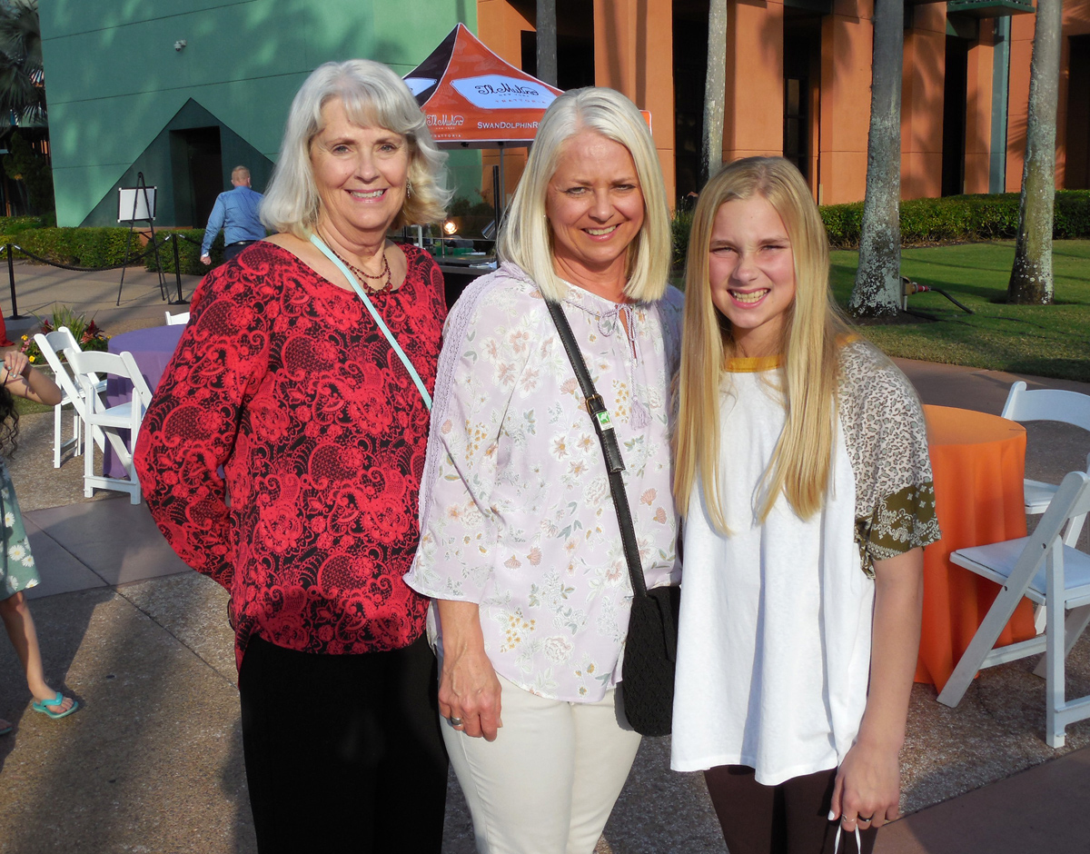Three generations: Shirley Hudson, Sarah Sherrod and Hannah Sherrod of the Southeast Produce Council.