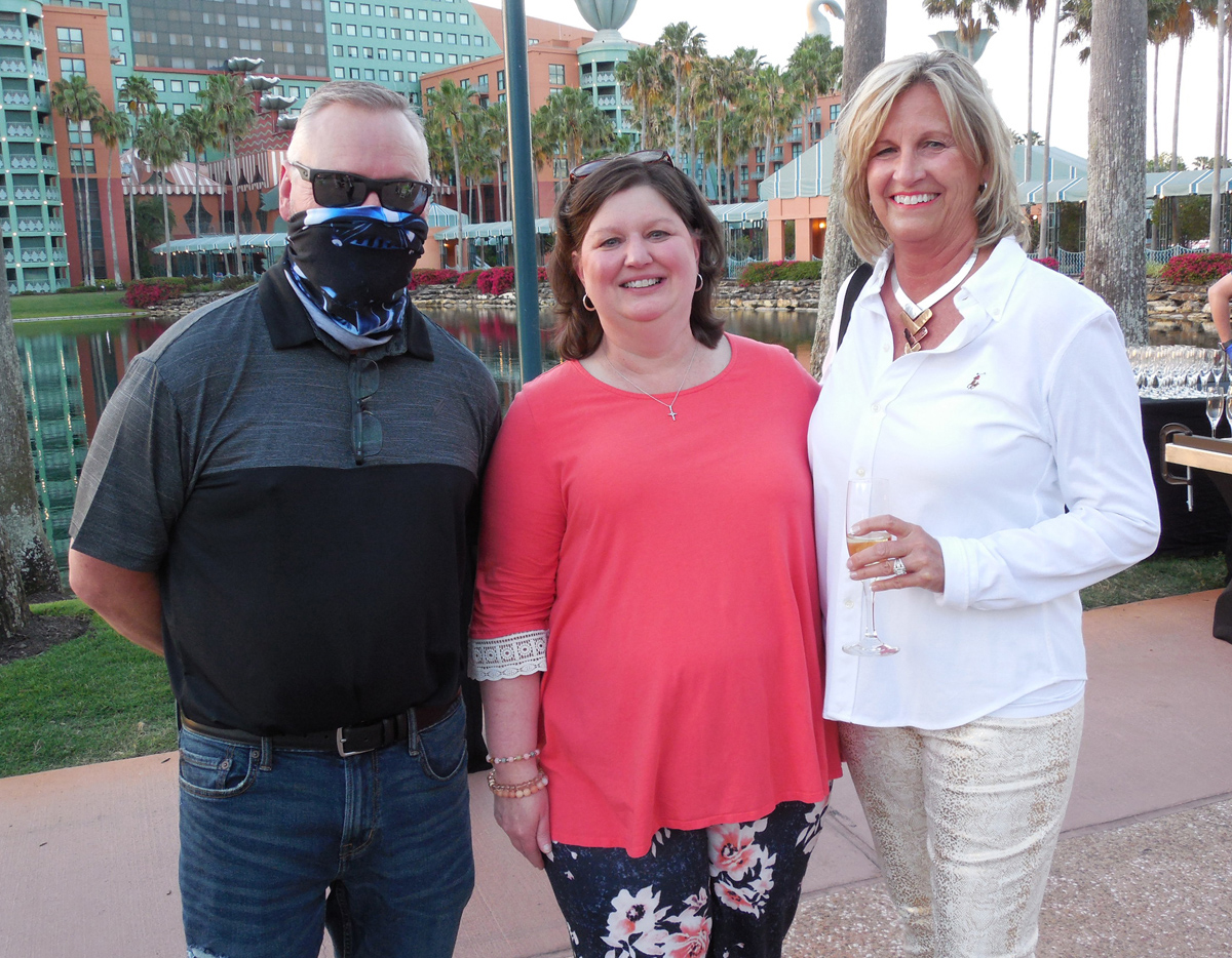 David Sherrod, president and CEO of the Southeast Produce Council, with SEPC staff member Jennifer Pierce and Jane Narwold of Sutherland's Foodservice.