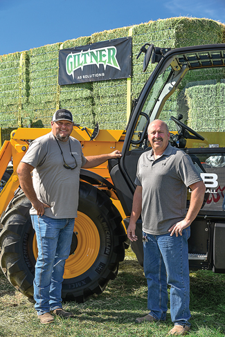 Dan Hawkins and Francis Hamm promoted Giltner Ag at the recent Twin Falls County Fair and Rodeo, where Giltner was the main sponsor.