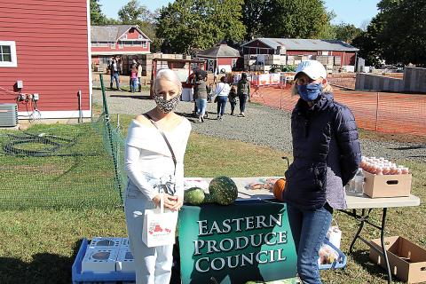 Nicole Russo of Arrow Farms with Susan McAleavey Sarlund, executive director of the Eastern Produce Council.