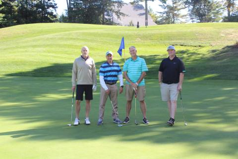 Michael O'Connor and Bill Forte of Advantage; Chris Downs of Taylor Farms of California; Steve Kearns of Advantage.