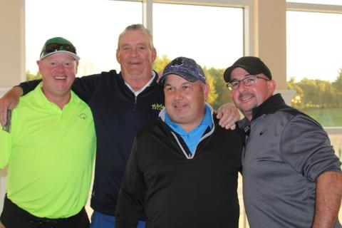 The second-place team: Bo Lynch, Brian Gibbons, Ken Reagan and Chris Pungitory.