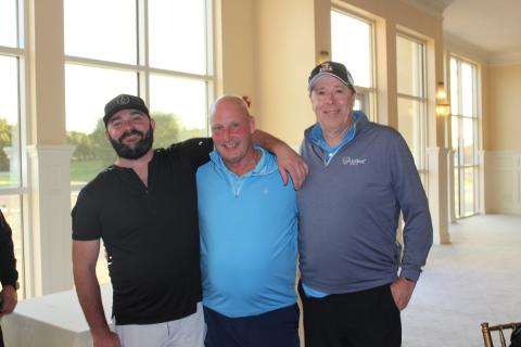 The third-place team: Bryan Ricciardi, Bobby McPhail, Kris McKenna and (not shown) Mike Mastracola.