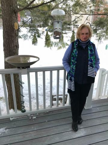 NWPB's CeCe Krumrine has enjoyed watching the birds and squirrels who visit her backyard during the quarantine.
